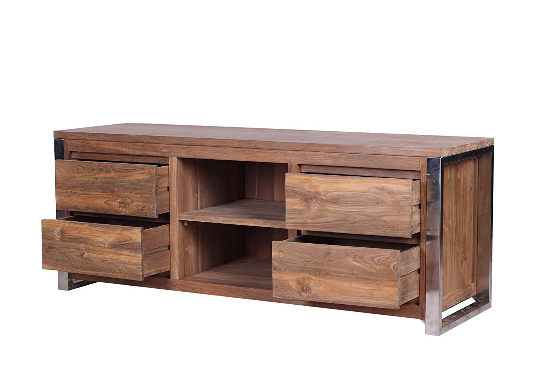 Teak-Holz TV-Schrank Baja IV - ca. 160 x 50 x 50 cm