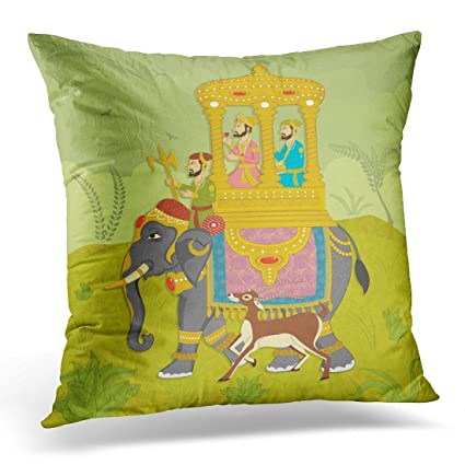 Amazon Breezat Throw Pillow Cover Colorful Mughal King On Mesmerizing Indian Style Decorative Pillows