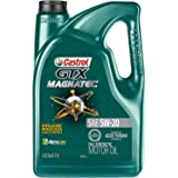 Castrol 03063 GTX MAGNATEC 5W-20 Full Synthetic Motor Oil, Green , 5 Quart