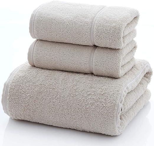 YYLY - Juego de Toallas de baño de algodón Egipcio Suave, 3 Piezas, 2 Toallas de Mano y 1 Toalla de baño: Amazon.es: Hogar