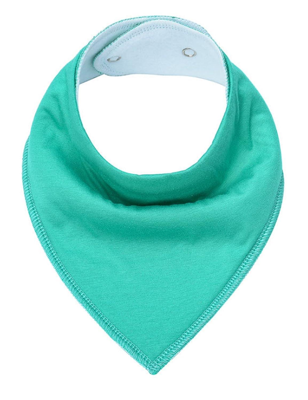 newrong Baby Cotton Bandana Drool and Teething Bibs One size Light Grey XZMYDR1067-10