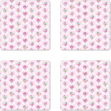 Heart Coaster Set Beverage Coaster Quilted Coaster Set Hostess Gift Fabric Drink Coaster Pink Coaster Handmade Coasters Drink Coaster
