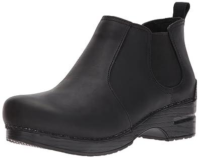 Dansko Women's Frankie Ankle Bootie, Black Oiled, 36 EU/5.5-6 M