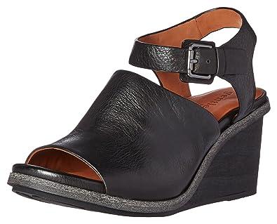 daf2c79088d Gentle Souls Womens Gerry Wedge Peep Toe Sandal Shoes
