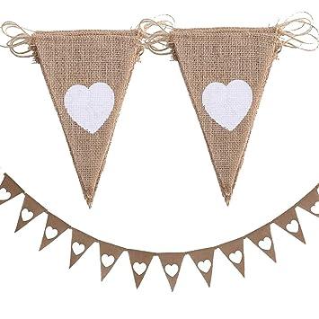 Bunting Wimpelkette Hochzeit Party Vintage Bunting Banner Dreieck