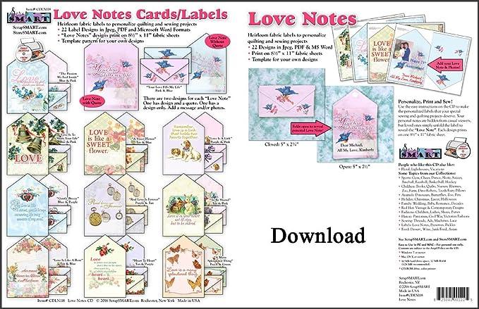 Amazon com: ScrapSMART - Love Notes Fabric Labels - Software