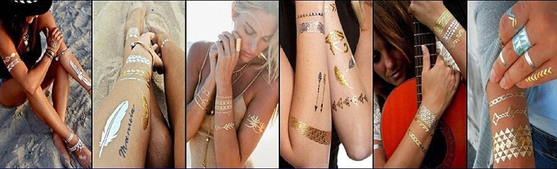 8 tatuajes temporales, metálicos, impermeables, egipcios, ojo de ...