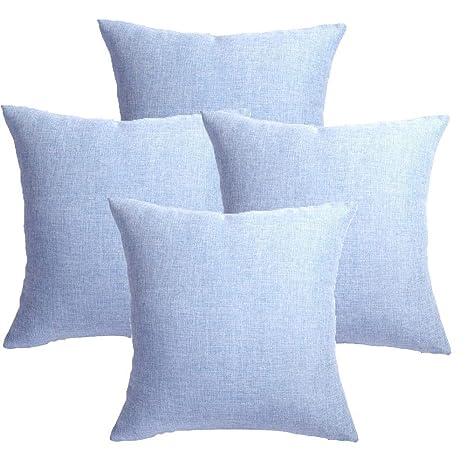 MRNIU cojines decoracion 45 x 45 Azul oscuro cojines sofas ...