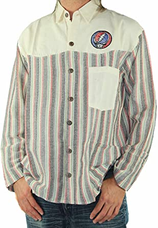 Jayli Cotton Long Sleeve Mens Shirt with Stealy GD-AJW32 Grateful Dead