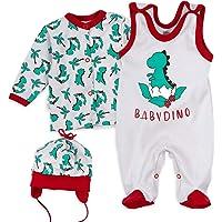 Baby Sweets 3er Babyset Shirt + Mütze + Strampler Erstausstattung für Mädchen und Jungen