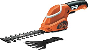 Oferta amazon: BLACK+DECKER GSL700-QW - Kit tijera cortacésped y arreglasetos 7 V, 1.2 Ah