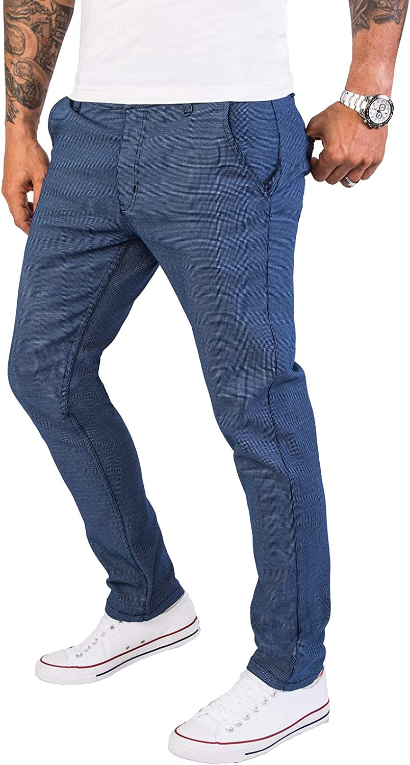 Rock Creek RC-2154 Mens Slim Fit Chino Trousers with Polka Dots