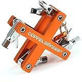 DOPPELGANGER ツールキット 自転車用8種 携帯ツールセット アルミフレーム アルマイト加工 [カラビナ付属] DA009TK