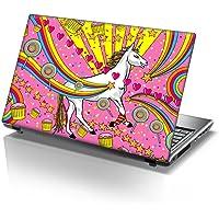 TaylorHe - Adhesivo de vinilo para ordenador portátil de 15,6 pulgadas con patrones coloridos y efecto piel laminado…