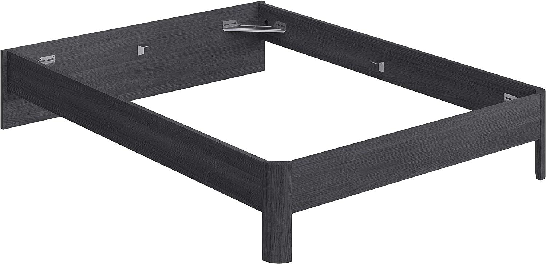 Marca Amazon - Movian Indre Modern - Base para cama de matrimonio con cabecero bajo, 194,5 x 144,5 x 31,7 cm (gris)