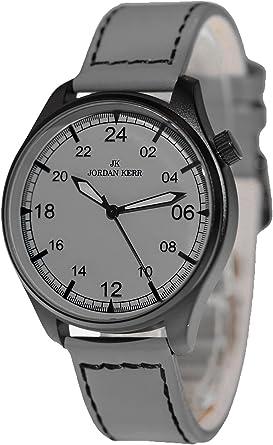 Analógica Jordan Kerr 24 Horas Esfera Hombre Reloj de Pulsera + ...