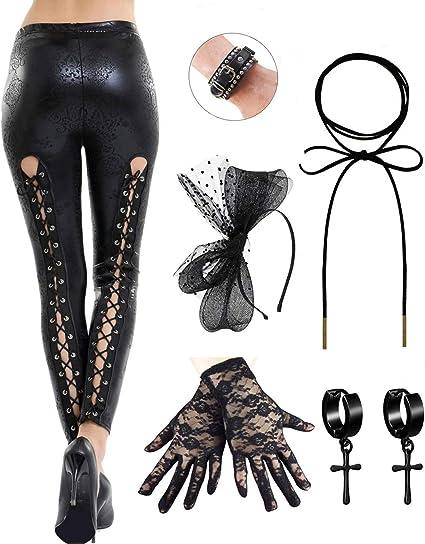 80s Lace Leggings Neon Ladies Madonna Celebrity Fancy Dress Hosiery