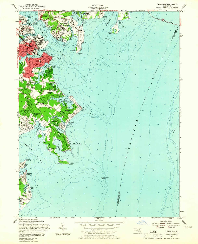 Amazon.com : YellowMaps Annapolis MD topo map, 1:24000 Scale ...
