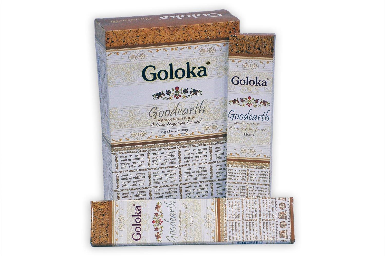 GolokaプレミアムシリーズコレクションHigh End Incense sticks- 6ボックスの15 gms (合計90 gms ) B01JVDYVME プレミアムグッドアース(Premium Goodearth)