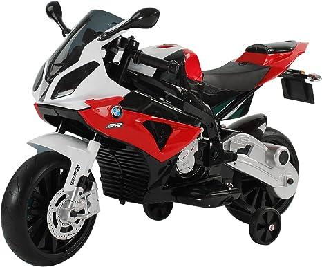 HOMCOM Compatible con Coche Correpasillos Niños Moto Eléctrica Infantil Batería 12V Doble Motor con Luces y Sonidos Ruedas Seguras 3-8 años 110x47x69cm PP BMW
