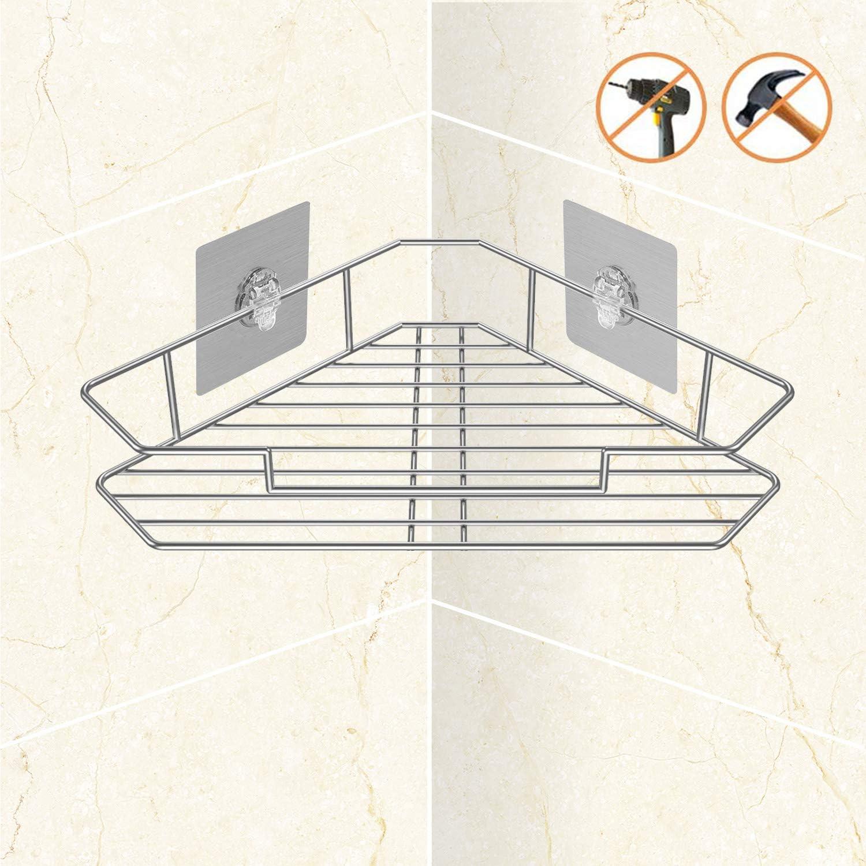 Stainless Steel Triangular Shower Shelf Bathroom Corner Bath Storage Holder NEW