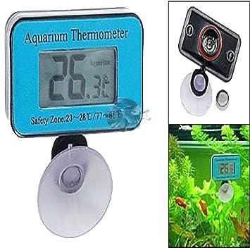 ES TERMOMETRO para Acuario Digital TERMOMETROS DE Acuario TERMOMETRO Acuario Peces: Amazon.es: Jardín