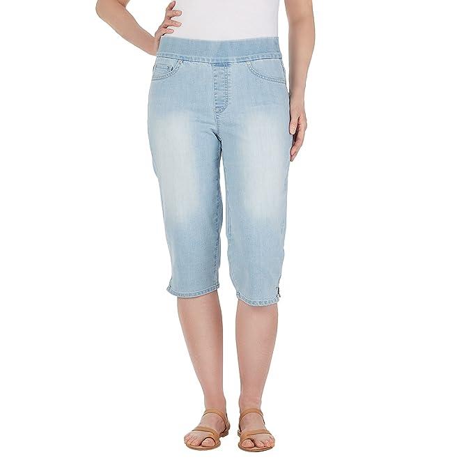 9d080db57c2 Gloria Vanderbilt Women s Plus Size Pull-On Avery Denim Capri
