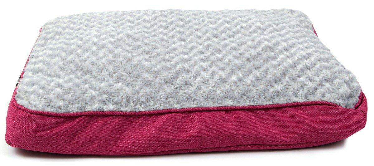 Animate Luxury Swirl Fur Canvas Box Bed, Large, Pink