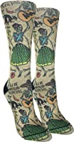 Good Luck Sock Women's Day of the Dead Crew Socks - Yellow, Adult Shoe Size 5-9