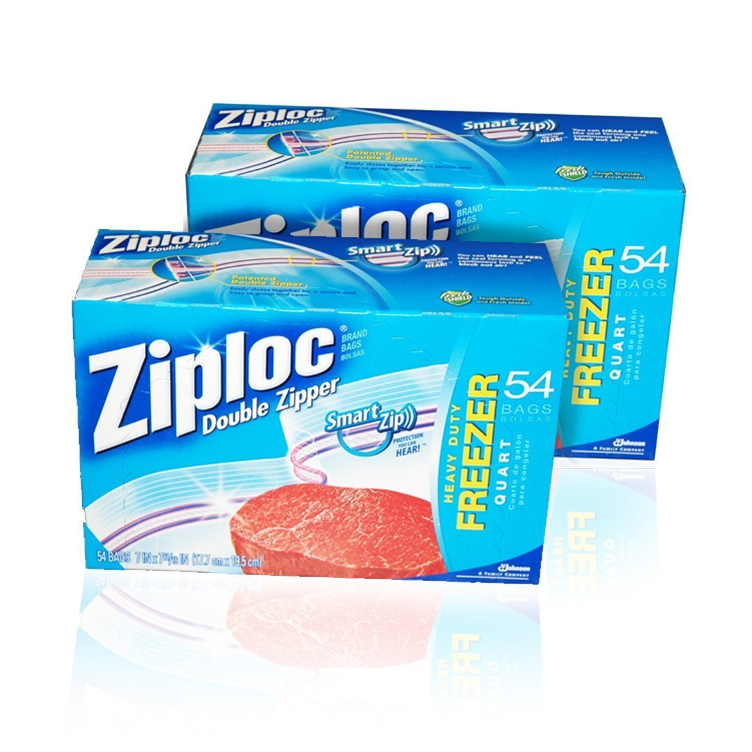 Ziploc Quart Freezer Bags - 54-Count , Pack of 5