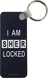 NaniWear Sherlock Keychain Rectangle I am Sherlocked