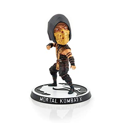 Mezco Toyz Mortal Kombat X Scorpion Bobble Head Figure | Exclusive Arcade Block Collectible Statue | 6 Inches Tall: Toys & Games