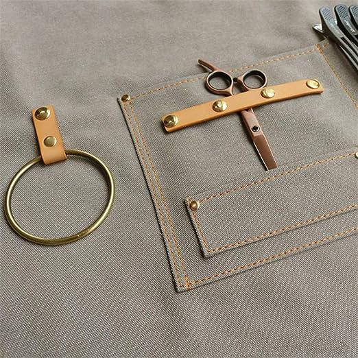 Cross-Back Arbeitssch/ürze f/ür Carpenter Barber DHRH Frauen M/änner wasserdichte Leinwand Werkzeugsch/ürze Werkstatt K/üche Garten Keramik Handwerk