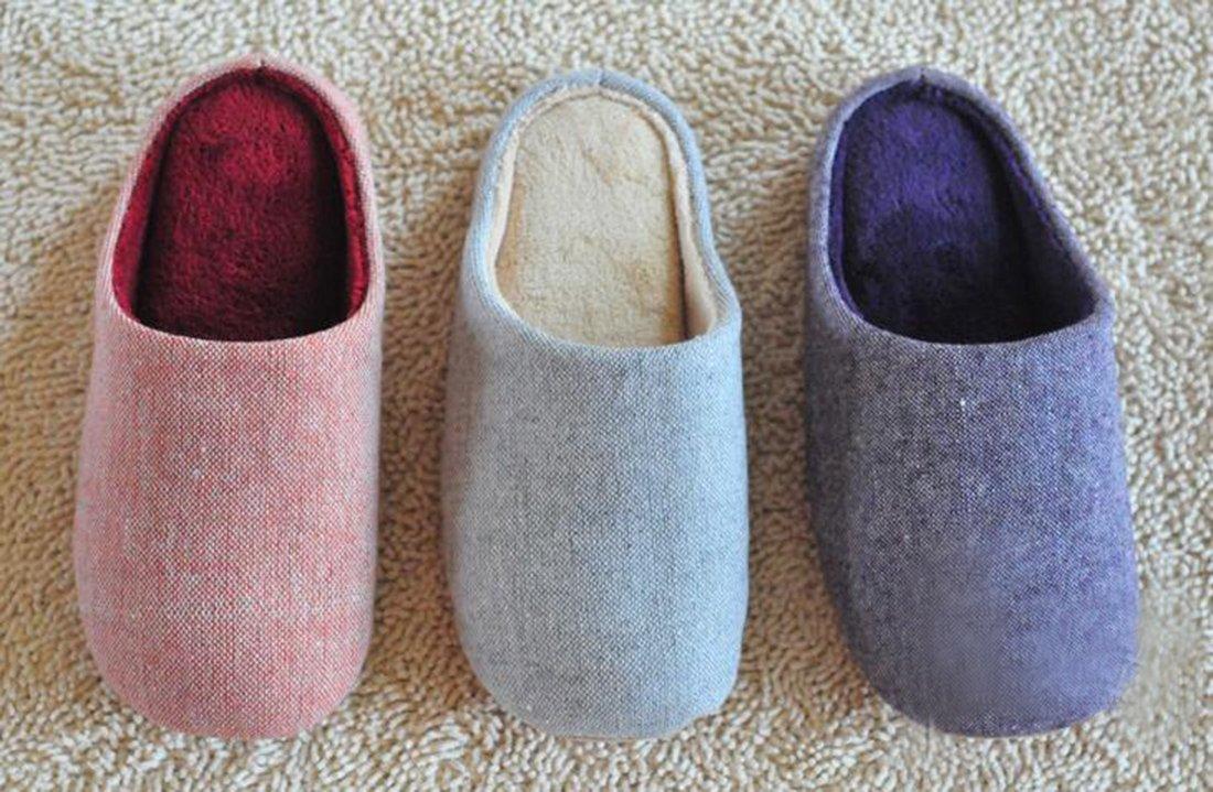 Bronze Times(TM) House Slippers,Womens Coral Fleece Memmory Foam Indoor Footwear,grey,M by Bronze Times (Image #4)