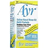 Ayr Saline Nasal Rinse Kit- Soothing Sinus Wash, 51 ct