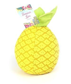 Superior Tropical Fruit Pineapple Shape Doorstop ~ Novelty Fabric Door Stop