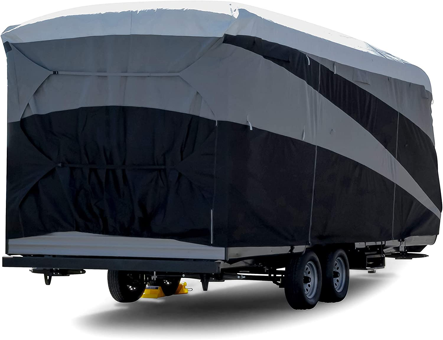 Camco ULTRAGuard Supreme RV Cover-Extremely Durable Design Fits Travel Trailers 18-20 56124 Weatherproof with UV Protection and Dupont Tyvek Top