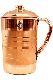 Indian Art Villa Copper Jug, Storage Water (1700 ml)