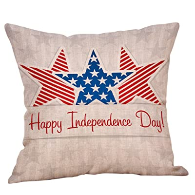 MONISE-honme 4Th of July Independent Day American Flag Pillow Cases Decorative Throw Pillow Cover for Couch Sofa Size 45X45(B): Home & Kitchen