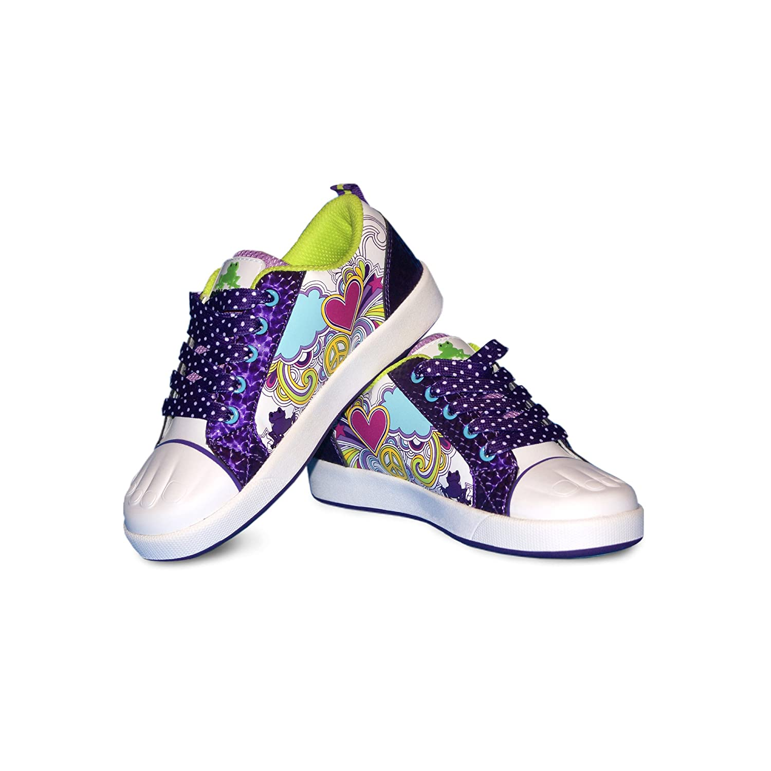 Bobbi-Toads Girl's Shoes, Hillary-Purple/Lt. Blue RJ Stanley Corp. 2011 Hillary Size 11