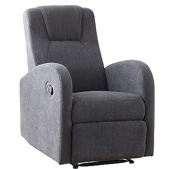SuenosZzz - Sillon Relax reclinable Flux tapizado en Tela Gris | Sillon reclinable butaca Relax | Sillon orejero, Sillones reclinables de salón