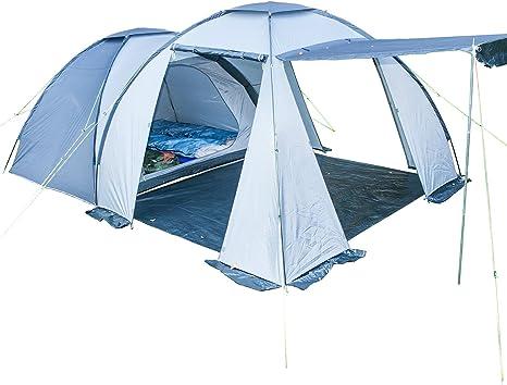 Skandika Bergen 4 - Tienda de campaña, color azul / gris, talla 4 Personas: Amazon.es: Deportes y aire libre