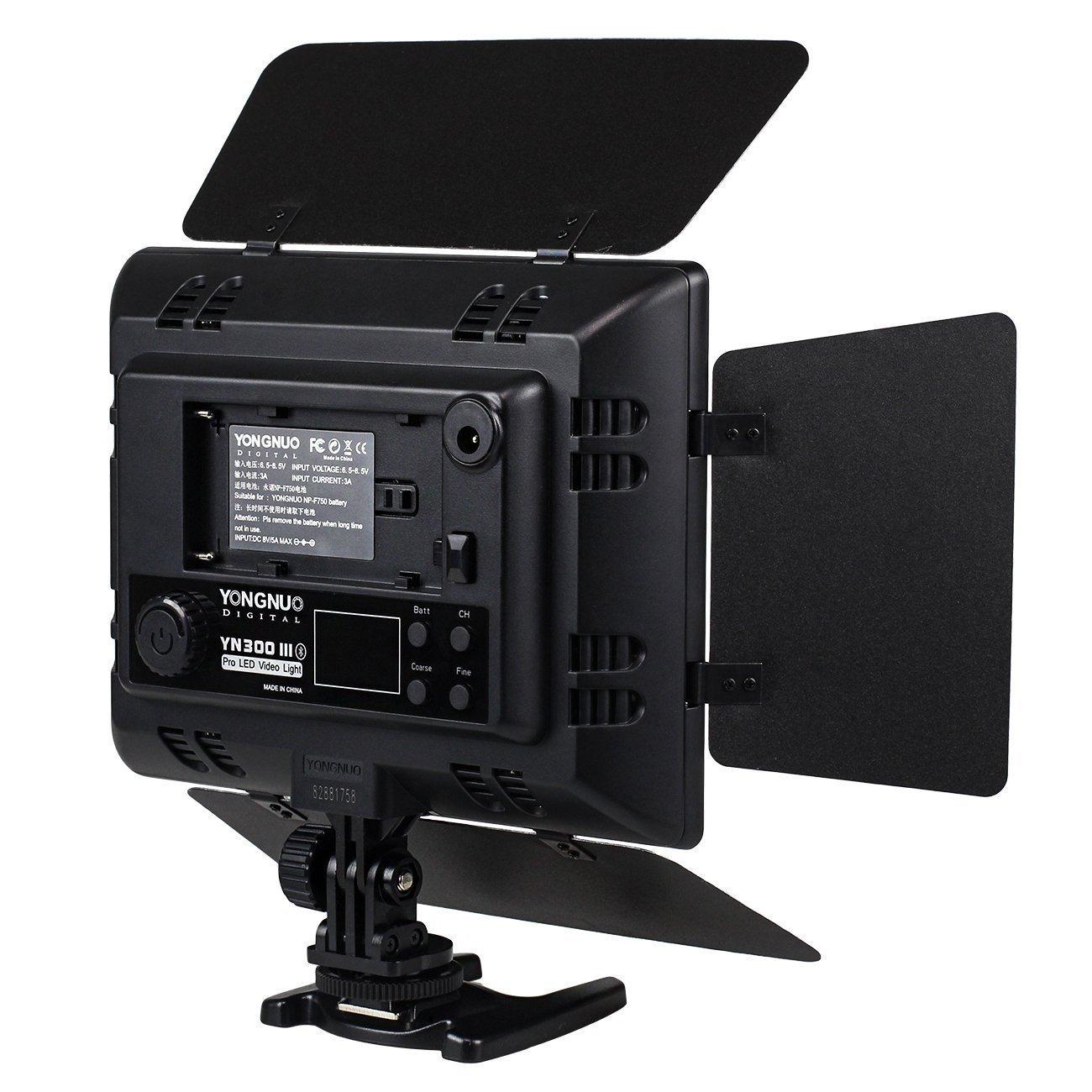 5500K para Canon Nikon DSLR DV de la c/ámara y videoc/ámara con NAMVO NP-F770 bater/ía y Cargador de bater/ía YONGNUO YN-216 YN216 Pro luz de v/ídeo LED 3200K