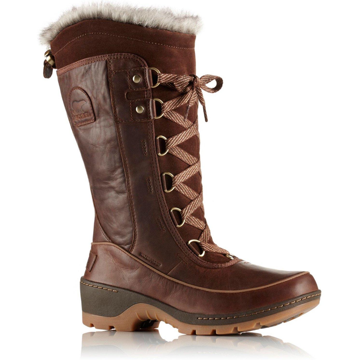 Sorel Torino High Premium Leather Womens Boots UK 6 Tobacco Delta