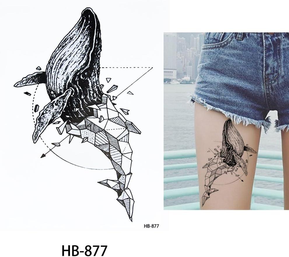 Líneas adhesivo Line Tattoo ballena Tattoo Negro hb877 Arm Tattoo ...