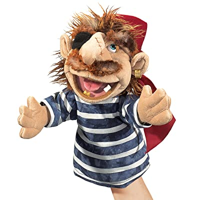 Folkmanis Blimey The Pirate Character Hand Puppet: Toys & Games