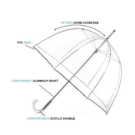 Totes Paraguas de firma burbuja transparente: Amazon.es: Ropa y accesorios