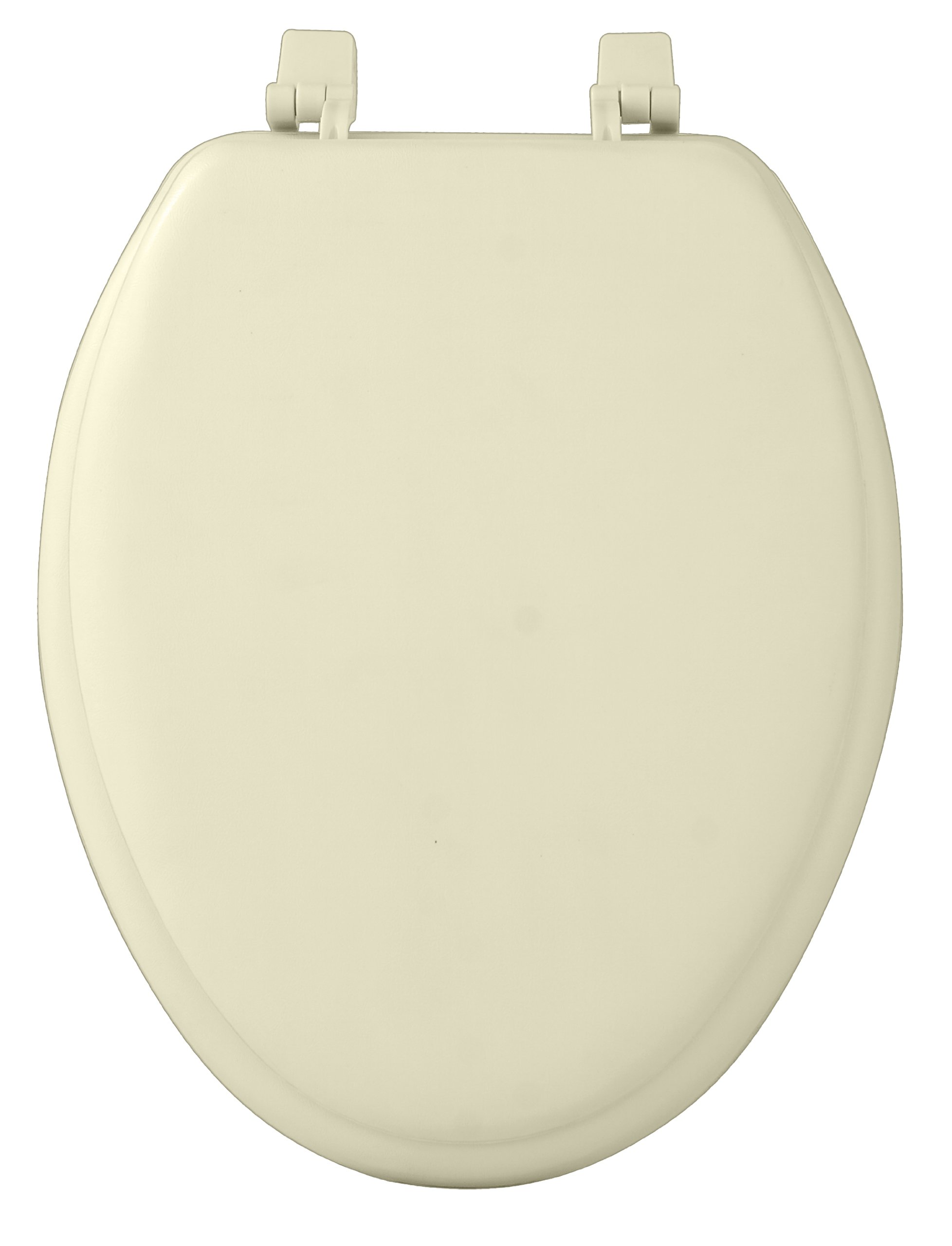 Achim Home Furnishings TOVYELBN04 19-Inch Fantasia Elongated Toilet Seat, Soft Bone