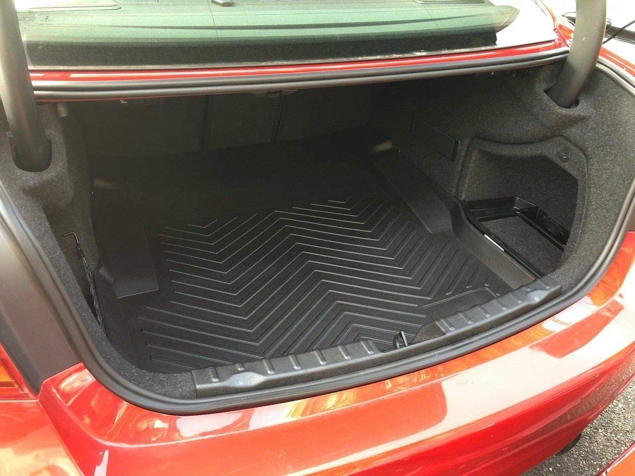 Rear Trunk Liner Tray Mat Pad for BMW 3-Series F30 F31 M3 F80 SEDAN 2012 2013 2014 2015 2016 2017 2018 Floor Cargo Cover Protection Dirt Mud Snow All Weather Season Waterproof 3d Laser Measured