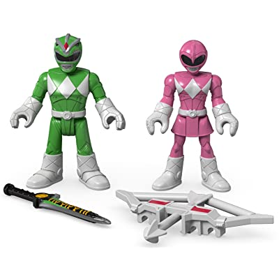 Fisher-Price Imaginext Power Rangers Green Ranger & Pink Ranger: Toys & Games